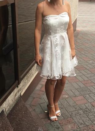 Платье вечернее , выпускное , корсет , пышное