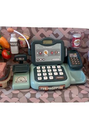 Кассовый аппарат с музыкой, сканером, калькулятором и весами. ...