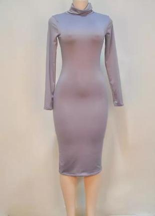 Платье,по фигуре,миди,резинка