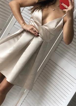 Сарафан , платье атласное
