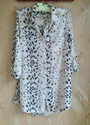Красивая удлиненная блузка