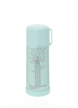 Бутылка-термос 694.4 металлическая голубого цвета