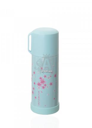 Бутылка-термос 686.4 металлическая голубого цвета