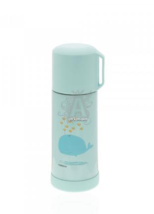 Бутылка-термос 690.4 металлическая голубого цвета