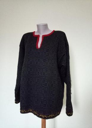 Теплый норвежский свитер шерсть