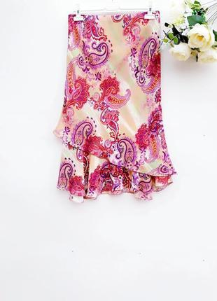Красивая летняя юбка миди юбка на лето за колено