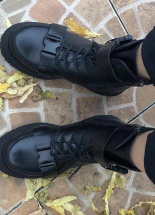 Женские ботинки {натуральная кожа, зима}