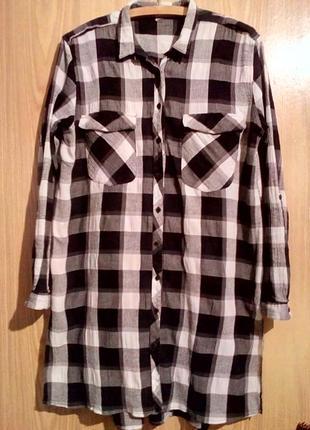 Платье рубашка/рубашка в клетку