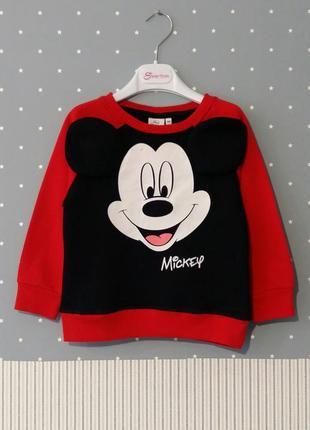 Свитшот/толстовка/батник mickey mouse от disney на 3-4 годика ...