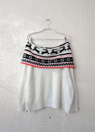 Шикарный свитер на плечи с шерстью