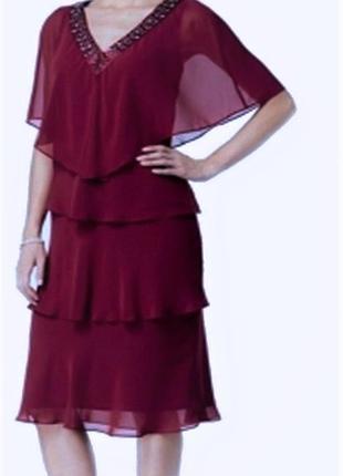 Нарядный комплект 2 единицы : платье  + накидкой (plus 18w) ба...