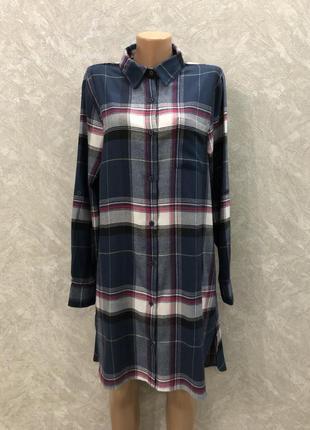 Платье рубашка туника в клетку