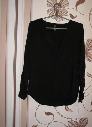 Черная блуза zebra, р.с