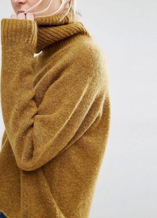 Мохеровый свитер кофта пуловер джемпер с высоким воротником  g...