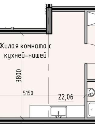 Однокомнатная квартира в центральной части Одессы. Квартира прогр