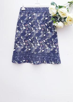 Качественная юбка на лето юбка миди красивая нежная натуральная