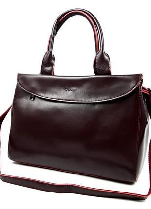 Женская сумка большого размера бордовая céline