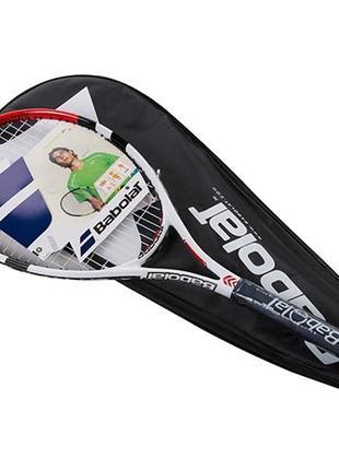 Ракетка для большого тенниса Babolat красная, длина 27 дюймов