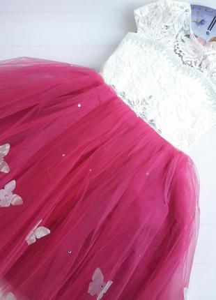 Бальное платье+перчатки