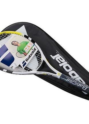 Ракетка для большого тенниса Babolat желтая, длина 27 дюймов