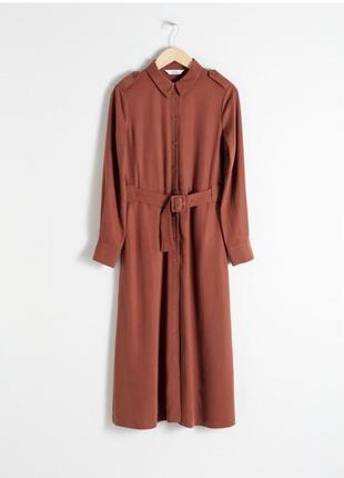 Терракотовое платье рубашка