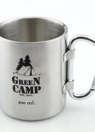 Термокружка World Sport GreenCamp 300 мл, ручка-карабин