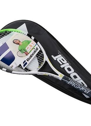 Ракетка для большого тенниса Babolat зеленая, длина 27 дюймов