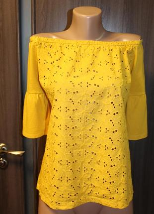 Трикотажная блузка papaya в идеальном состоянии хl