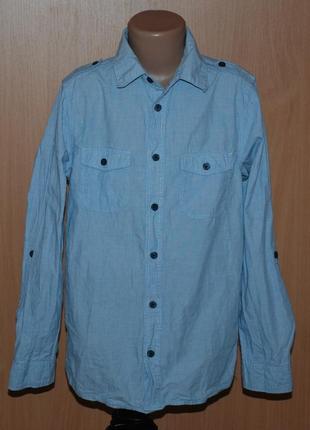 Рубашка на мальчика бренда h&m  / 100% хлопок/