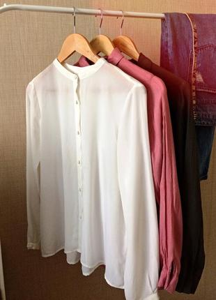 Блуза шифонова, з гарною спинкою