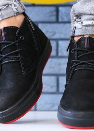 Lux обувь! зимние натуральные замшевые ботинки мужские