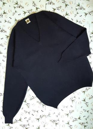 🎁1+1=3 шикарный теплый шерстяной синий мужской свитер hema, 10...