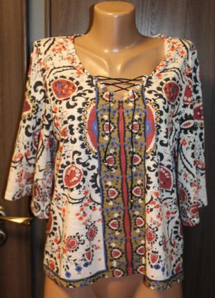 Трикотажная блузка bc в идеальном состоянии l