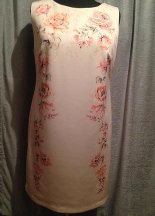 Оригинальное облегающее платье с цветочным принтом большого ра...