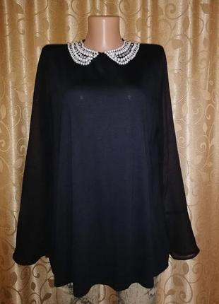 🌺🎀🌺красивая женская черная кофта, блузка с расшитым воротником...
