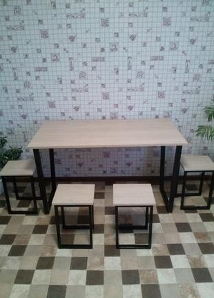 Стол со стульями в стиле лофт