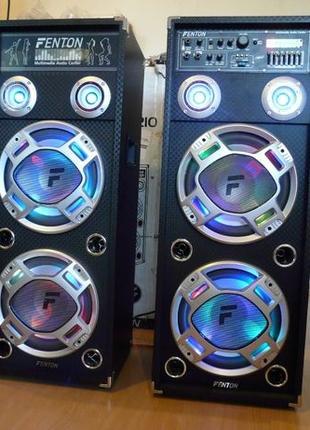Активные колонки Fenton 1600 Вт Мощный звук USB+светомуз с Гер...