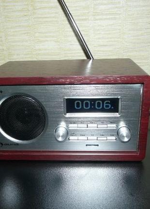 Ретро радио Будильник Auna Гармоника DAB+/FM ЖК-дисплей Германия