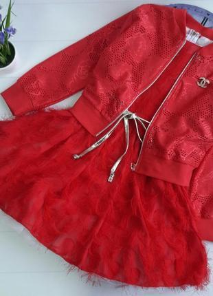 Комплект( платье+кофточка)