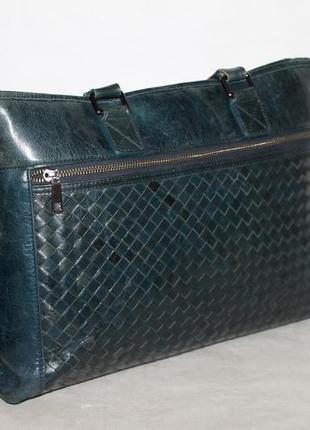Стильная кожаная сумка под ноутбук,а4 100% натуральная кожа