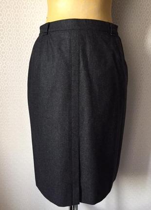 Чистошерстяная юбка карандаш большой размер (нем 44, укр 50-52...