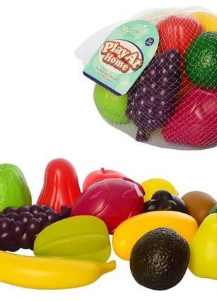 Продукты TP297 (72шт) 12шт, овощи, фрукты, ягоды, в сетке, 20-...