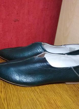 Качественные новые кожаные туфли