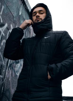 """Зимняя Куртка """"Европейка"""" черная"""