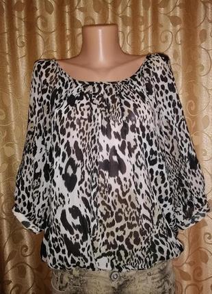 🌺🎀🌺красивая шифоновая кофта, блуза в леопардовый принт wallis🔥🔥🔥