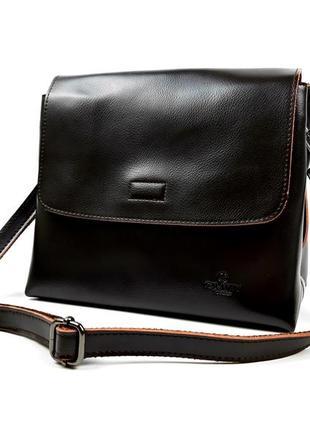 Кожаная женская сумка коричневая, galanty