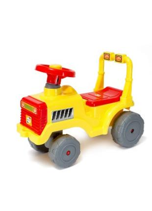 Машинка для катания БЕБИ ТРАКТОР лимон