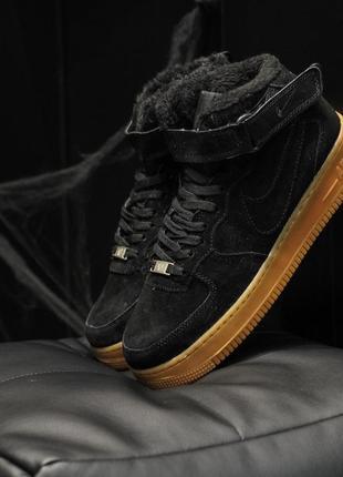 Зимние натуральные замшевые ботинки кроссовки мужские