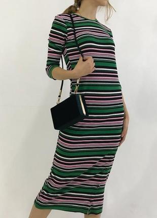 Платье в полосочку новое bershka