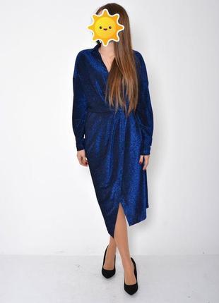 Платье женское 115r361a цвет электрик